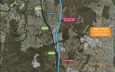 Coomera Connector Stage 1 (Photo credit: Qld Govt Dept of Transport and Main Roads)