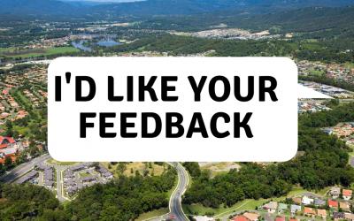 I'd like your feedback